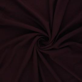 Tissu jersey viscose uni - bordeaux x 10 cm