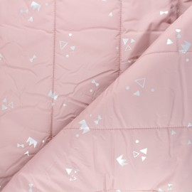 Quilted lining fabric - pink Géola x 10cm