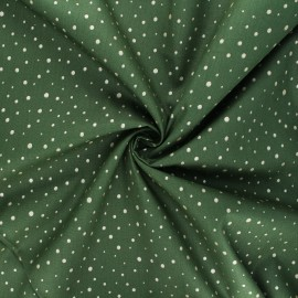 Poppy poplin cotton fabric - dark green Dots C x 10cm