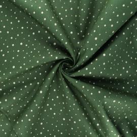 Tissu popeline de coton Poppy Dots C - vert foncé x 10cm