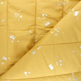 Quilted lining fabric - mustard yellow Géola x 10cm