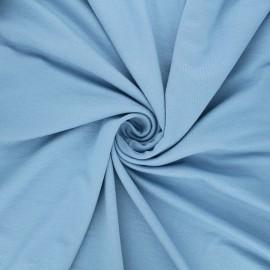 Tissu jersey viscose uni - bleu clair x 10 cm
