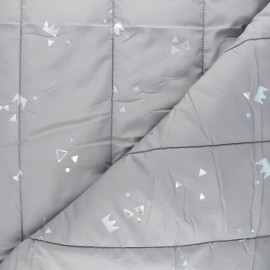 Quilted lining fabric - grey Géola x 10cm