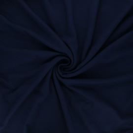 Tissu jersey viscose uni - bleu nuit x 10 cm