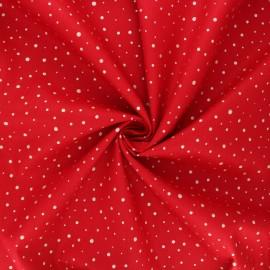 Tissu popeline de coton Poppy Dots C - rouge x 10cm