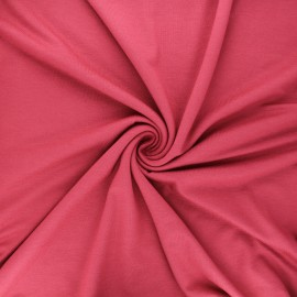 Tissu jersey viscose uni - bois de rose x 10 cm