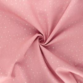 Tissu popeline de coton Poppy Dots C - vieux rose x 10cm