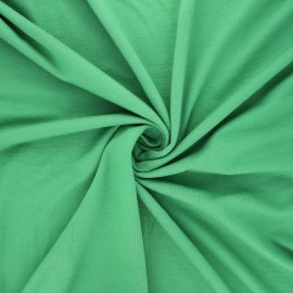 Plain viscose jersey fabric - green x 10 cm