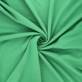 Tissu jersey viscose uni - vert x 10 cm
