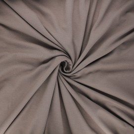 Tissu jersey viscose uni - taupe clair x 10 cm
