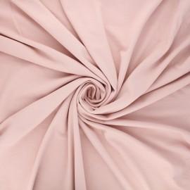 Tissu jersey viscose uni - eau de rose x 10 cm