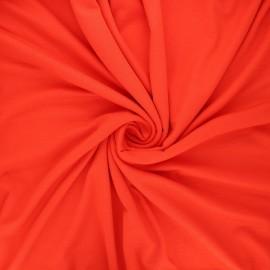Tissu jersey viscose uni - rouge coquelicot x 10 cm
