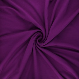 Plain viscose jersey fabric - purple x 10 cm