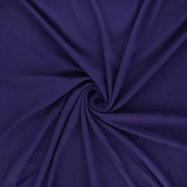 Tissu jersey viscose uni - violet x 10 cm
