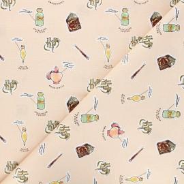 Cotton fabric - peach Harry Potter Cours de potion x 10cm