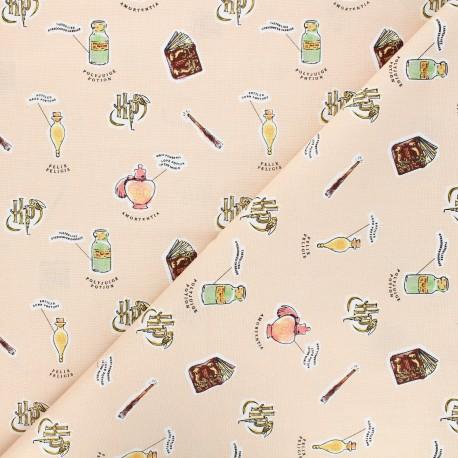 Tissu coton Harry Potter Cours de potion - pêche x 10 cm