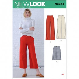 Large Pants Sewing Pattern for Woman - New Look 6643