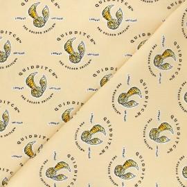 Cotton fabric - orange Harry Potter Quidditch et vif d'or x 10cm