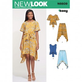 All-In-One Sewing Pattern for Woman - New Look 6609