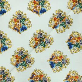Tissu coton Harry Potter Blason de Poudlard - vert pastel x 10 cm