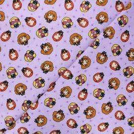 Tissu coton Harry Potter Harry's girl's gang - violet x 10 cm