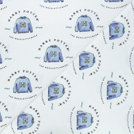 Tissu coton Harry Potter Pull d'Harry - blanc x 10 cm