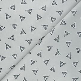 Tissu coton Harry Potter Deathly Hallows - gris x 10 cm