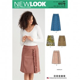 Trapeze Skirt Sewing Pattern for Woman - New Look 6579