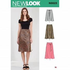 Flared Skirt Sewing Pattern for Woman - New Look 6623