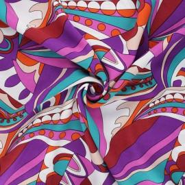 Tissu viscose Psycké - violet x 10cm