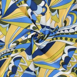 Viscose fabric - yellow Psycké x 10cm