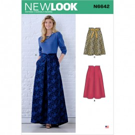 Pleated Long Skirt Sewing Pattern for Woman - New Look 6642