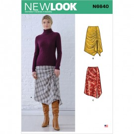 Asymmetric Skirt Sewing Pattern for Woman - New Look 6642