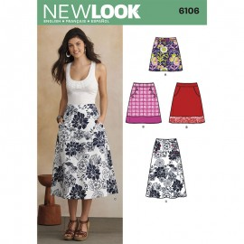 Skirt with Pockets Sewing Pattern for Woman - New Look 6106