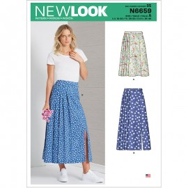 Pleated Skirt Sewing Pattern for Woman - New Look 6659