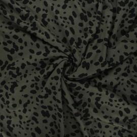 Viscose jersey fabric - khaki Camo cheetah x 10 cm