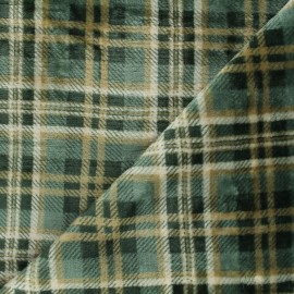 Flannel fleece fabric - green Dunbar x 10cm