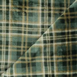 Tissu doudou Dunbar - vert x 10 cm
