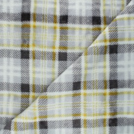 Flannel fleece fabric - grey Dunbar x 10cm