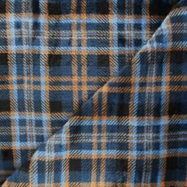 Tissu doudou Dunbar - bleu x 10 cm