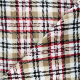 Tissu doudou Dunbar - beige x 10 cm