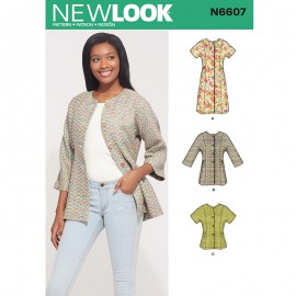 Kimono Vest Sewing Pattern for Woman - New Look 6397