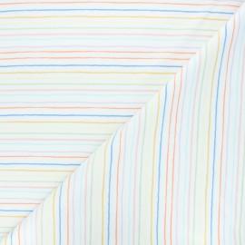 Tissu jersey Funny stripe - blanc x 10cm