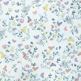 Tissu jersey Living garden - blanc x 10cm