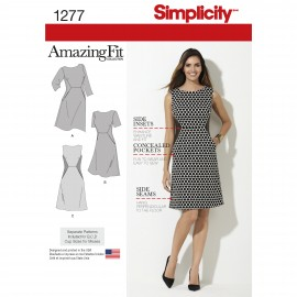 Adjusted dress sewing Pattern for Woman - Simplicity n°1377