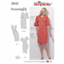 Adjusted dress sewing Pattern for Woman - Simplicity n°8543
