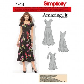 Adjusted dress sewing Pattern for Woman - Simplicity n°1537