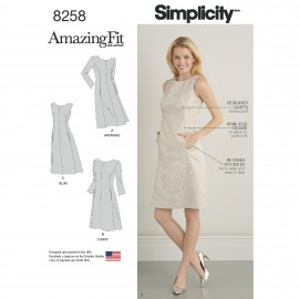 Adjusted dress sewing Pattern for Woman - Simplicity n°8258