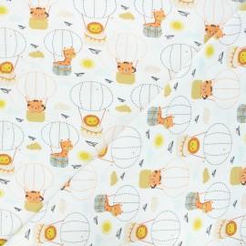 Tissu jersey Animals in balloons - écru x 10cm