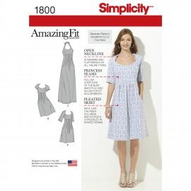 Patron Robe ajustée Femme - Simplicity n°1800